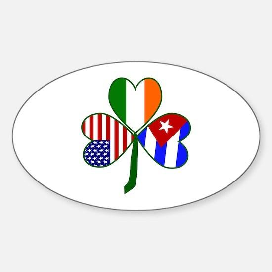 Shamrock of Cuba Sticker (Oval)