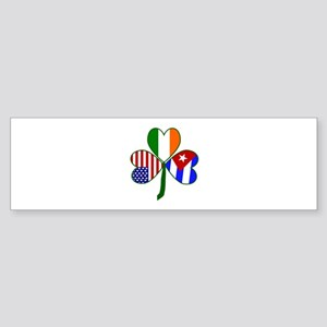 Shamrock of Cuba Sticker (Bumper)