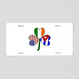 Shamrock of Cuba Aluminum License Plate