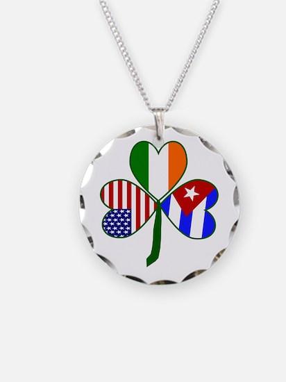 Shamrock of Cuba Necklace Circle Charm
