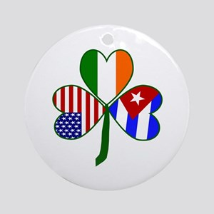 Shamrock of Cuba Ornament (Round)