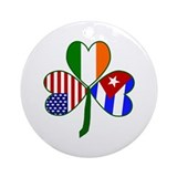 Irish cuban Round Ornaments
