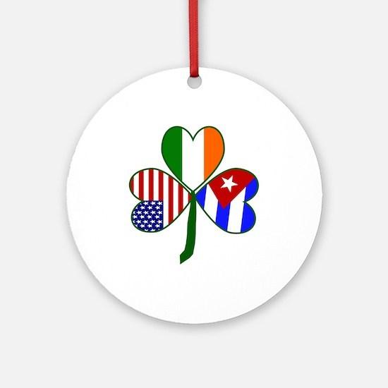 Shamrock of Cuba Ornament (Round)
