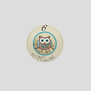 6 Months Owl Milestone Mini Button