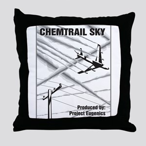Chemtrail Sky Throw Pillow