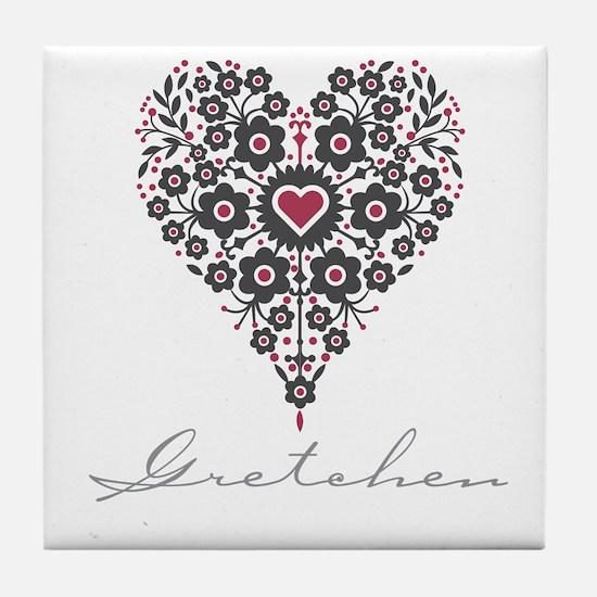Love Gretchen Tile Coaster