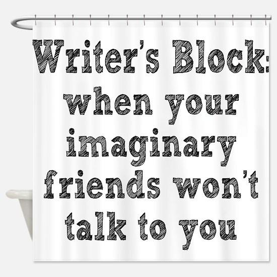 Writer's Block Shower Curtain