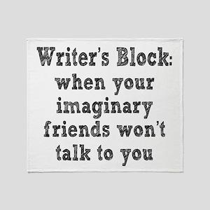 Writer's Block Throw Blanket