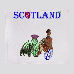 Scottish Rugby Throw Blanket