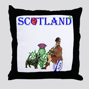 Scottish Rugby Throw Pillow