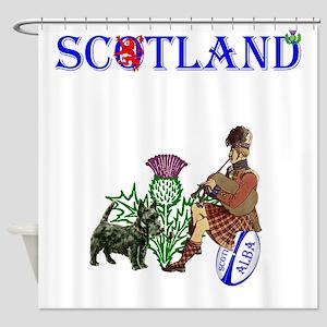 Scottish Rugby Shower Curtain