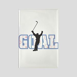 Hockey Goal Design Rectangle Magnet