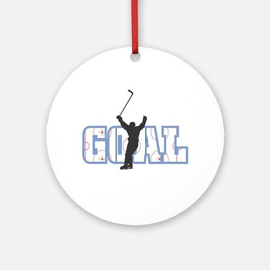 Hockey Goal Design Ornament (Round)