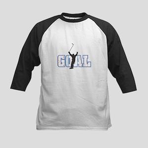 Hockey Goal Design Kids Baseball Jersey