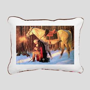 George Washington Rectangular Canvas Pillow