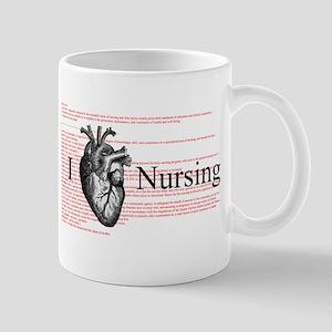 I Heart Nursing Definition Mug