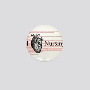 I Heart Nursing Definition Mini Button