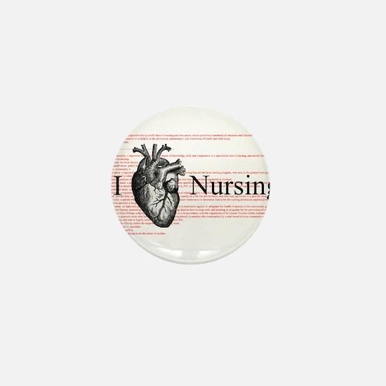 I Heart Nursing Definition Mini Button