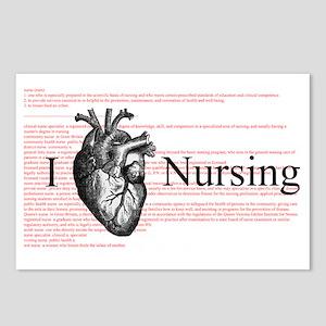 I Heart Nursing Definition Postcards (Package of 8