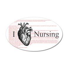 I Heart Nursing Definition Wall Decal