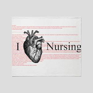 I Heart Nursing Definition Throw Blanket