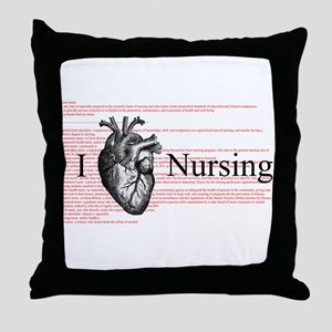 I Heart Nursing Definition Throw Pillow