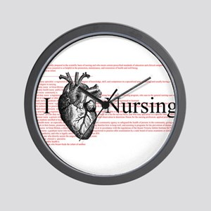 I Heart Nursing Definition Wall Clock