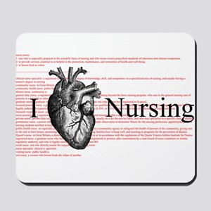 I Heart Nursing Definition Mousepad