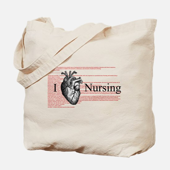 I Heart Nursing Definition Tote Bag