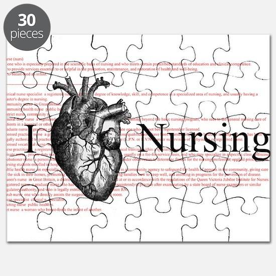 I Heart Nursing Definition Puzzle