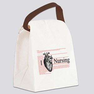 I Heart Nursing Definition Canvas Lunch Bag