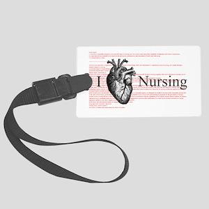 I Heart Nursing Definition Luggage Tag