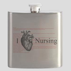 I Heart Nursing Definition Flask