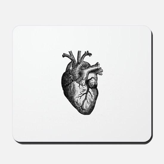 Vintage Heart Mousepad