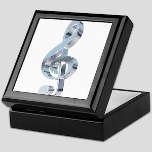 Silver Treble Clef Keepsake Box