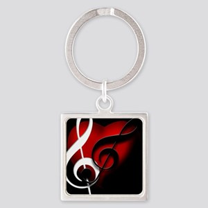 HeartandClefs Square Keychain