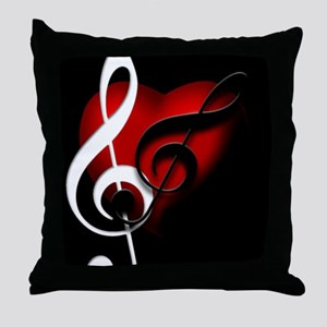 HeartandClefs Throw Pillow