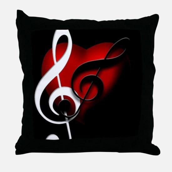 HeartandClefs.jpg Throw Pillow