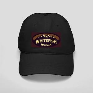 Whitefish Logo Sepia Black Cap