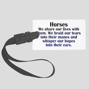 Importance of Horses Large Luggage Tag