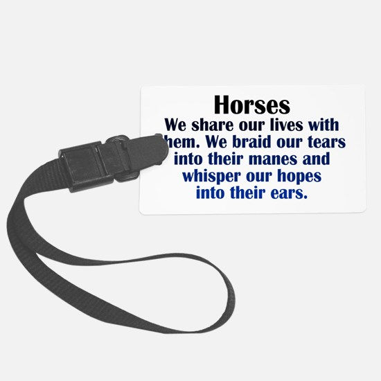 Importance of Horses Luggage Tag