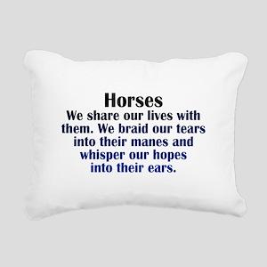 Importance of Horses Rectangular Canvas Pillow