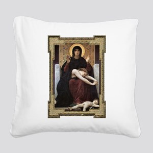 Virgin of Consolation Square Canvas Pillow