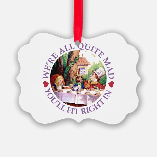 WERE ALL QUITE MAD_purple.png Ornament