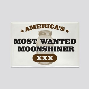Most Wanted Moonshiner Rectangle Magnet