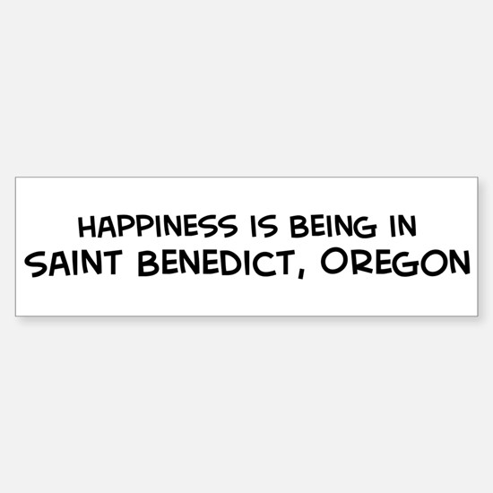 Saint Benedict - Happiness Bumper Bumper Bumper Sticker