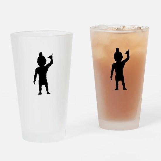 Menehune Silhouette Drinking Glass
