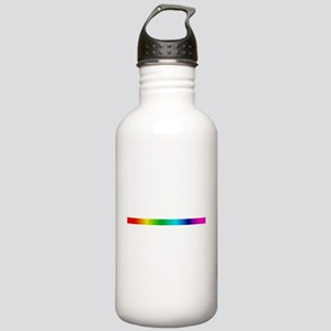 rainbow_stripe Water Bottle