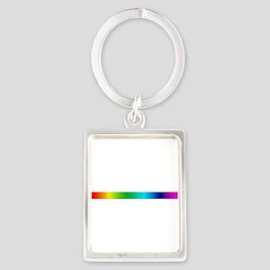 rainbow_stripe Portrait Keychain