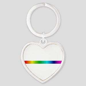 rainbow_stripe Heart Keychain